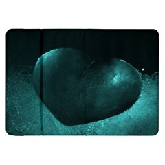 Teal Heart Samsung Galaxy Tab 8 9  P7300 Flip Case by timelessartoncanvas