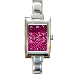 Pink Cubes Rectangle Italian Charm Watches by timelessartoncanvas
