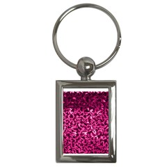 Pink Cubes Key Chains (rectangle)