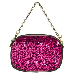 Pink Cubes Chain Purses (one Side)
