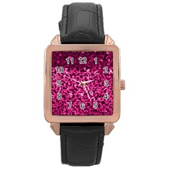 Pink Cubes Rose Gold Watches by timelessartoncanvas