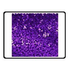 Purple Cubes Fleece Blanket (small) by timelessartoncanvas