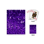 Purple Cubes Playing Cards (Mini)  Back
