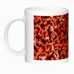 Red Cubes Night Luminous Mugs by timelessartoncanvas