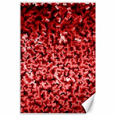 Red Cubes Canvas 24  X 36  by timelessartoncanvas