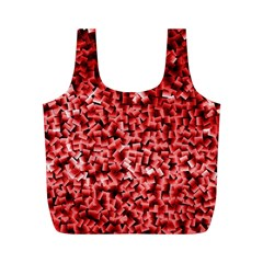 Red Cubes Full Print Recycle Bags (m)  by timelessartoncanvas