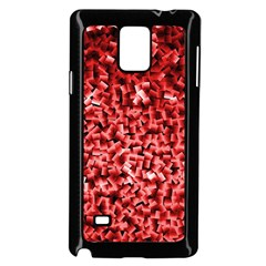 Red Cubes Samsung Galaxy Note 4 Case (black) by timelessartoncanvas