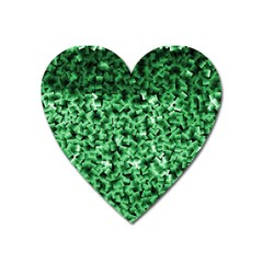 Green Cubes Heart Magnet by timelessartoncanvas