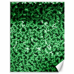 Green Cubes Canvas 36  X 48