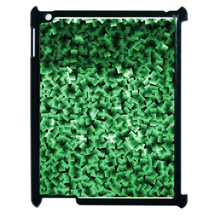 Green Cubes Apple iPad 2 Case (Black)