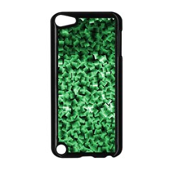 Green Cubes Apple Ipod Touch 5 Case (black) by timelessartoncanvas