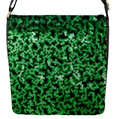 Green Cubes Flap Messenger Bag (s)
