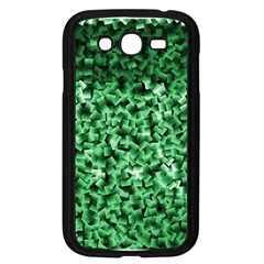 Green Cubes Samsung Galaxy Grand Duos I9082 Case (black) by timelessartoncanvas