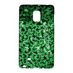 Green Cubes Galaxy Note Edge by timelessartoncanvas