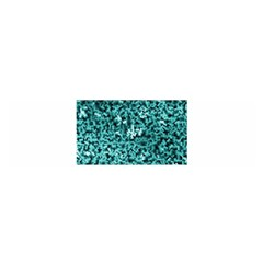 Teal Cubes Satin Scarf (oblong)