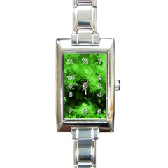 Bright Green Abstract Rectangle Italian Charm Watches
