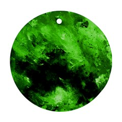 Bright Green Abstract Ornament (round)