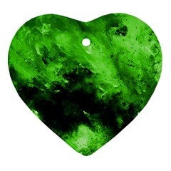 Bright Green Abstract Ornament (heart)  by timelessartoncanvas