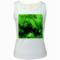Bright Green Abstract Women s Tank Tops