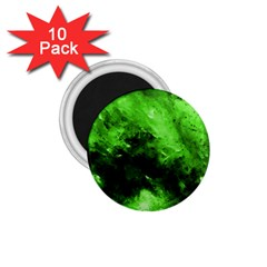 Bright Green Abstract 1 75  Magnets (10 Pack)