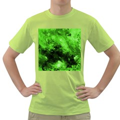 Bright Green Abstract Green T Shirt