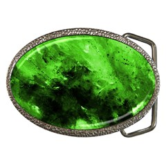 Bright Green Abstract Belt Buckles