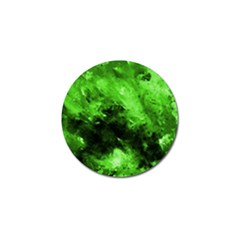 Bright Green Abstract Golf Ball Marker