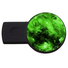 Bright Green Abstract Usb Flash Drive Round (4 Gb)  by timelessartoncanvas
