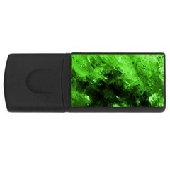 Bright Green Abstract Usb Flash Drive Rectangular (4 Gb)  by timelessartoncanvas