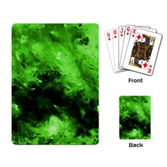 Bright Green Abstract Playing Card