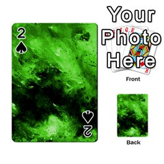 Bright Green Abstract Playing Cards 54 Designs