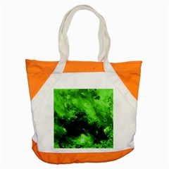Bright Green Abstract Accent Tote Bag