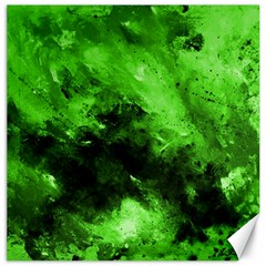 Bright Green Abstract Canvas 16  X 16