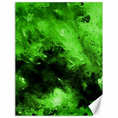 Bright Green Abstract Canvas 18  X 24