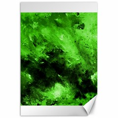 Bright Green Abstract Canvas 20  X 30