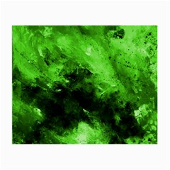 Bright Green Abstract Small Glasses Cloth (2 Side)