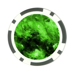 Bright Green Abstract Poker Chip Card Guards