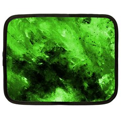 Bright Green Abstract Netbook Case (large)