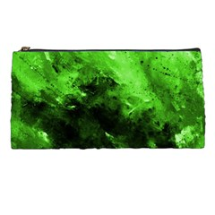 Bright Green Abstract Pencil Cases