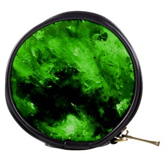 Bright Green Abstract Mini Makeup Bags