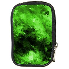 Bright Green Abstract Compact Camera Cases