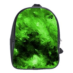 Bright Green Abstract School Bags(large)