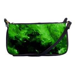 Bright Green Abstract Shoulder Clutch Bags