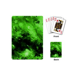 Bright Green Abstract Playing Cards (mini)