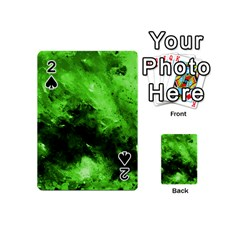Bright Green Abstract Playing Cards 54 (mini)