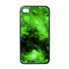 Bright Green Abstract Apple Iphone 4 Case (black)