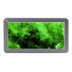 Bright Green Abstract Memory Card Reader (mini)