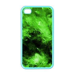 Bright Green Abstract Apple Iphone 4 Case (color)