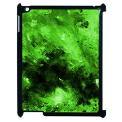 Bright Green Abstract Apple Ipad 2 Case (black)