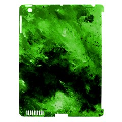 Bright Green Abstract Apple Ipad 3/4 Hardshell Case (compatible With Smart Cover) by timelessartoncanvas